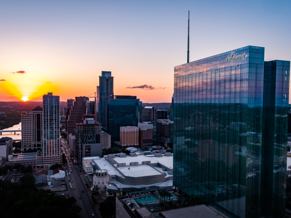 Austin Southside at sunset