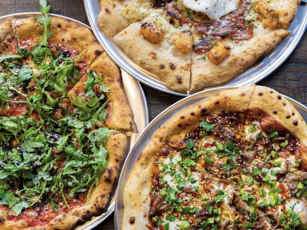 Pour Behavior pizza collage