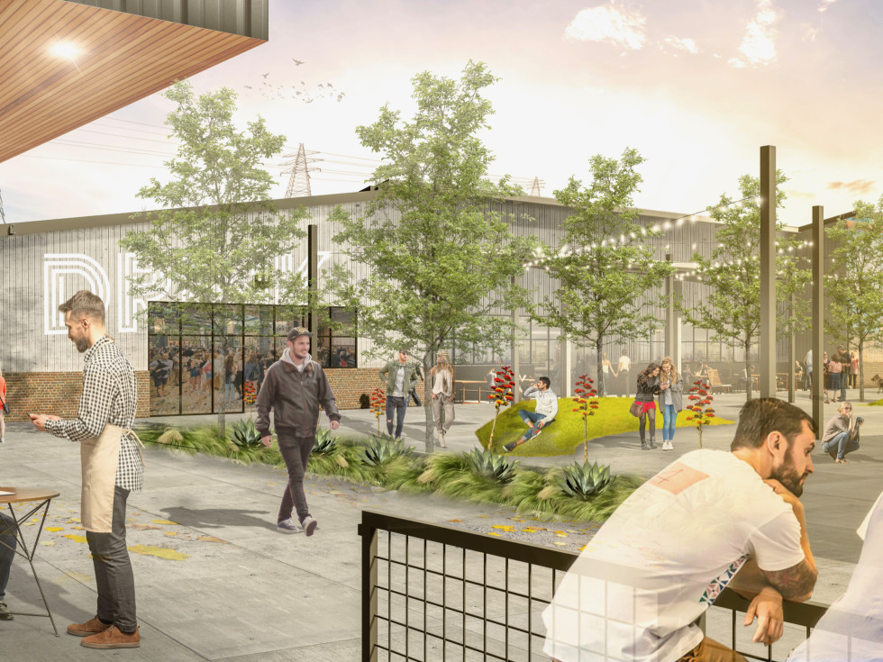 Houston Farmers Market restaurant rendering
