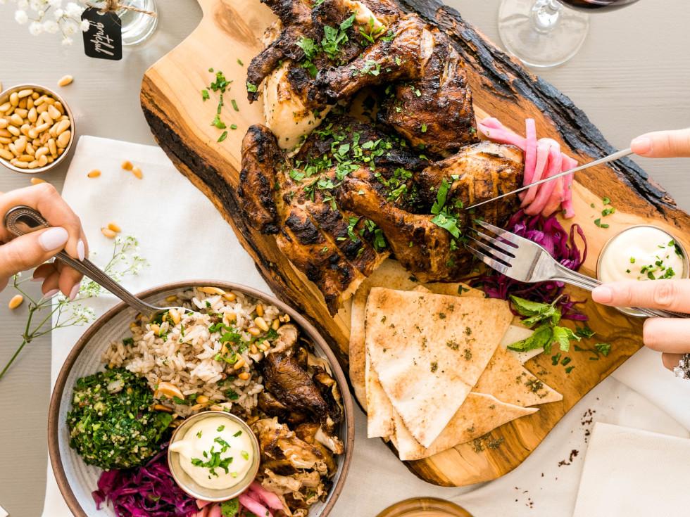 Craft Pita roast chicken and sides