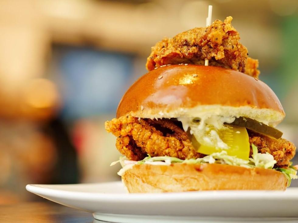 Common Bond Nashville hot chicken sandwich