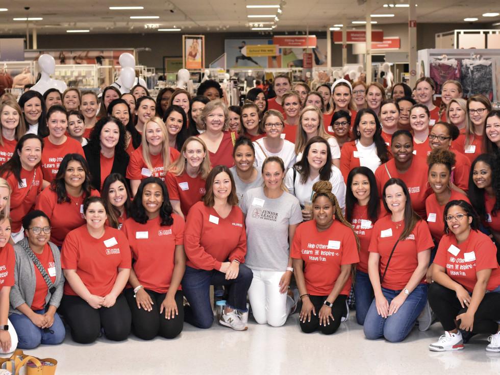 Junior League Houston Child Advocates shopping spree
