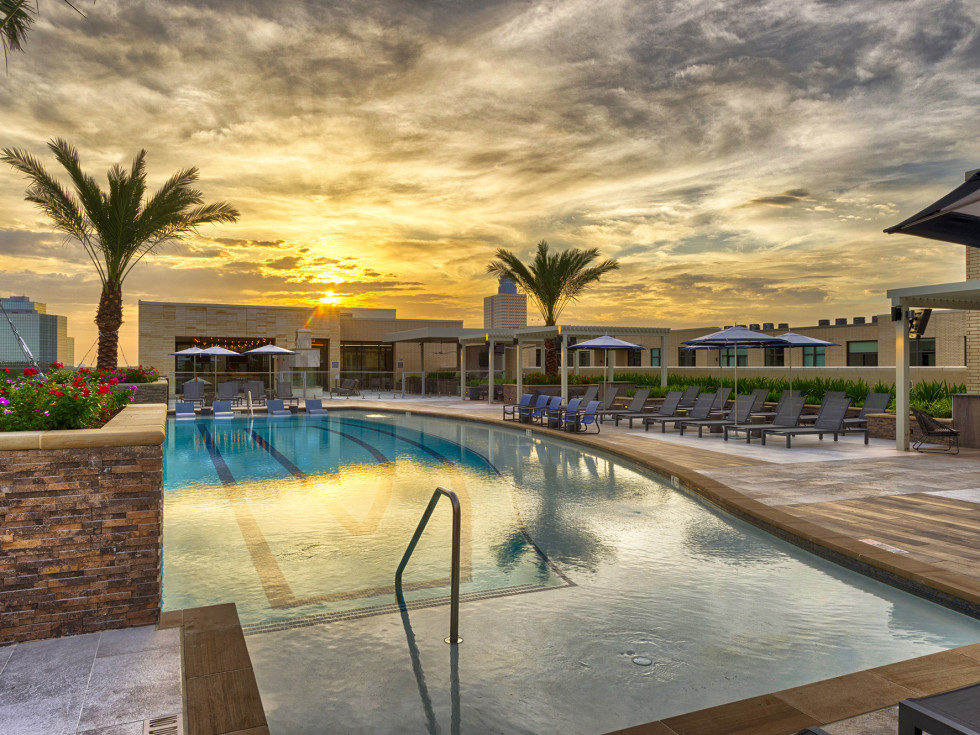 The McAdams Memorial City rooftop infinity pool