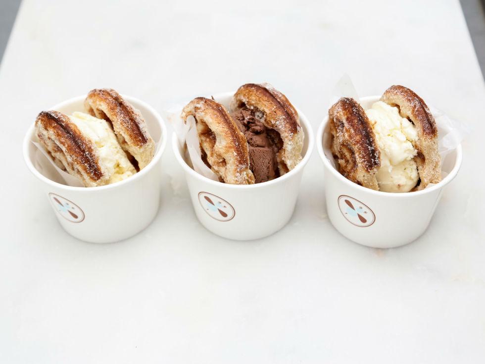 Bisous Bisous Pâtisserie ice cream sandwiches
