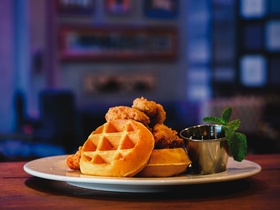 House of Blues chicken waffles