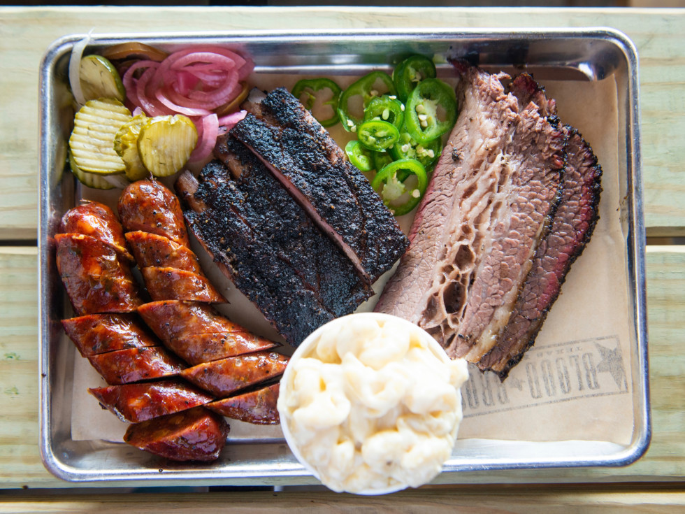 Blood Bros BBQ barbecue tray