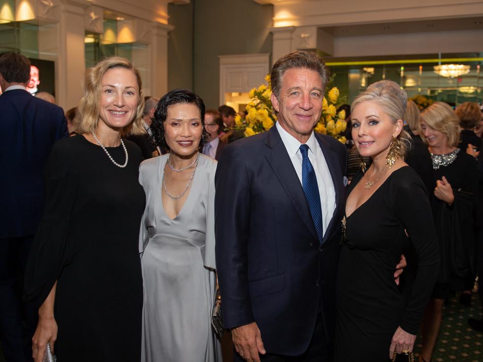 Houston Ballet Onstage Dinner Tatiana Massey, Duyen Nguyen, Steve Wyatt, Joyce Echols