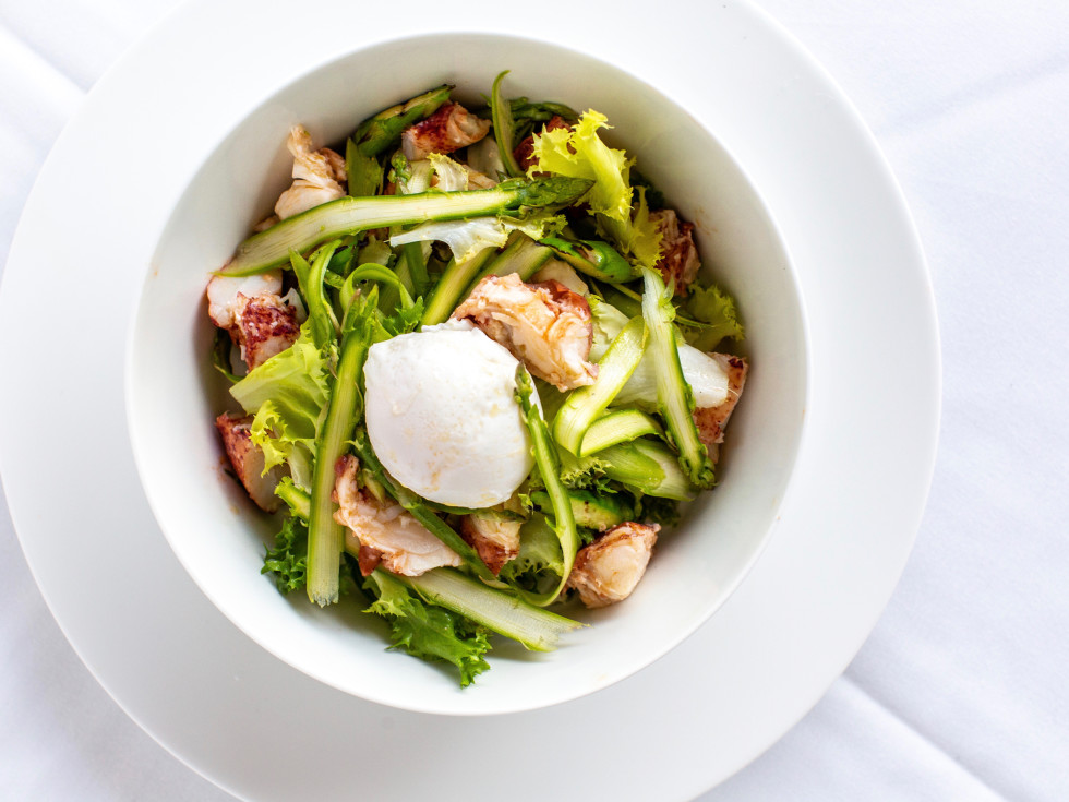 The Annie Cafe asparagus salad with lobster