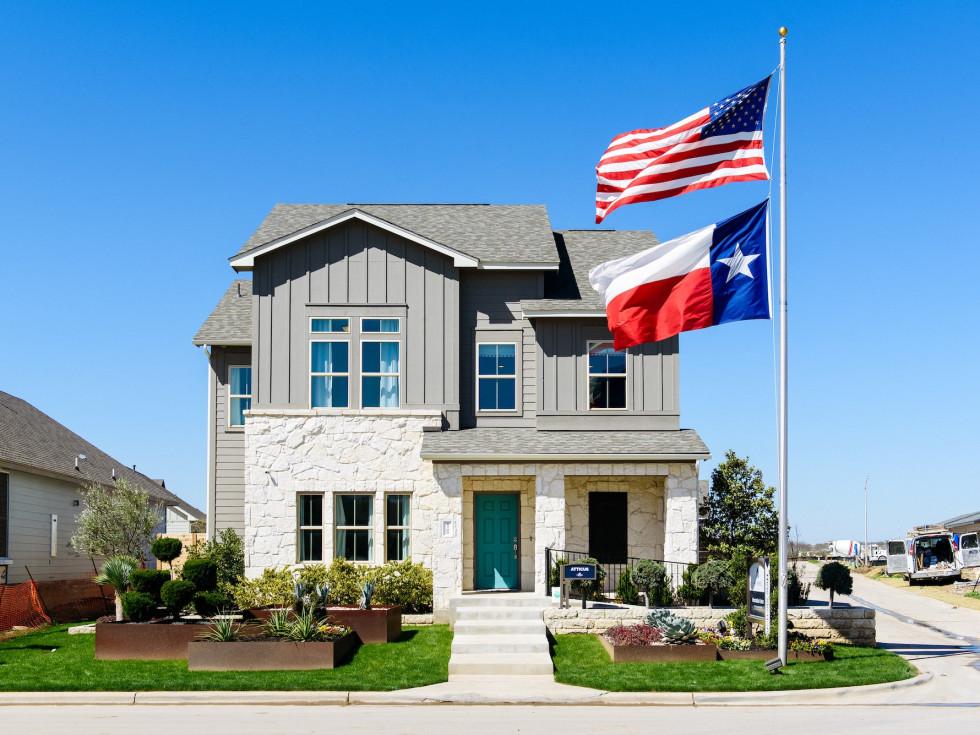 Goodnight Ranch southeast austin house for sale texas flag