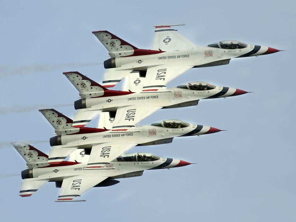 USAF Thunderbirds planes jets