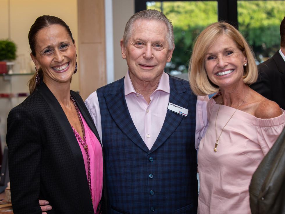 Real Men Wear Pink Tiziana Triolo, Candidate Joel Oppenheim, & Fiona Cunningham