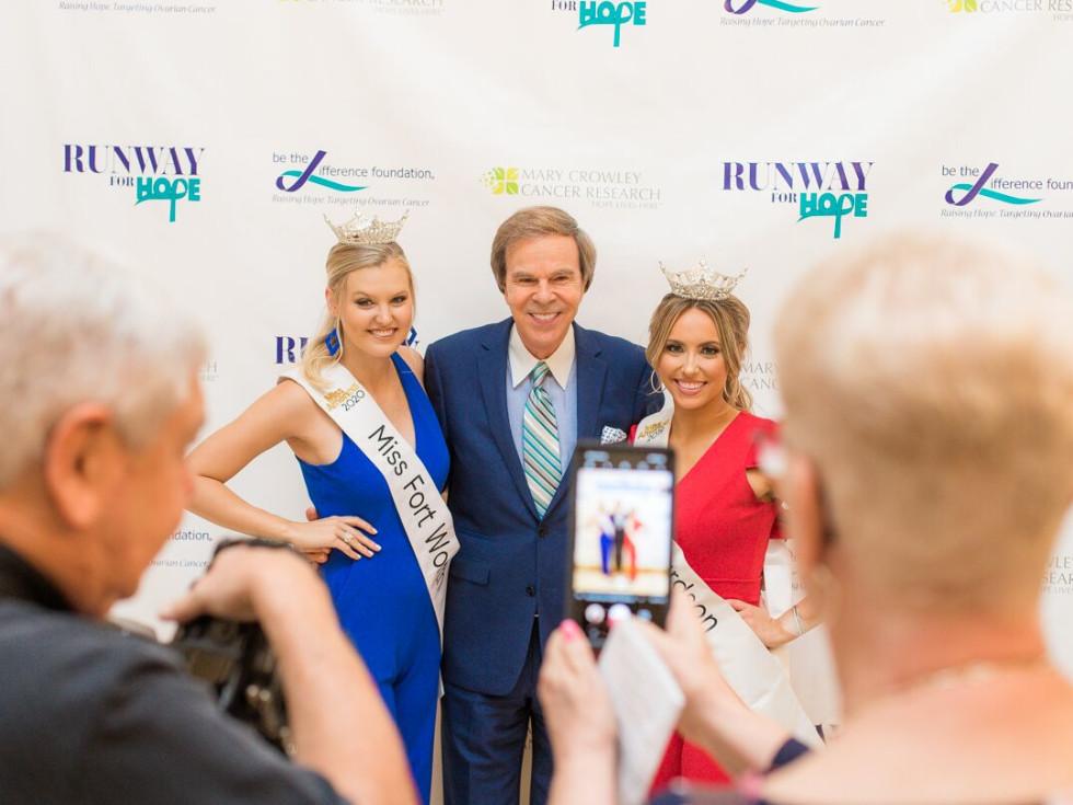 Miss Fort Worth Landry Champlin, master of ceremonies Scott Murray, Miss Richardson Erica Kuntz