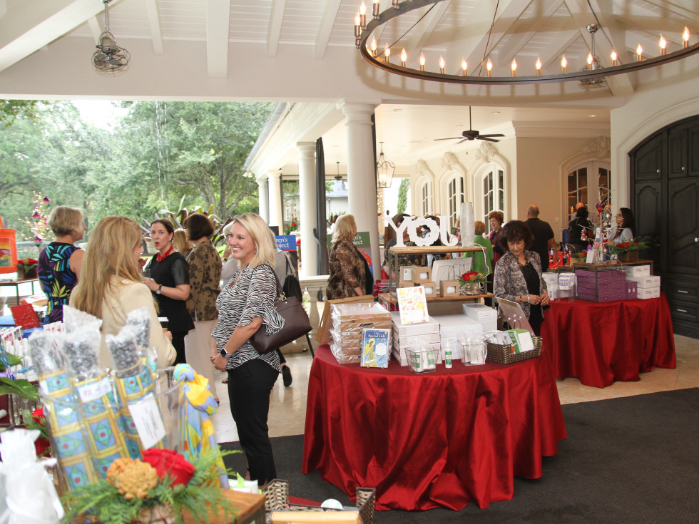 Paige Fertitta Children's Art Project trunk show MD Anderson guests shopping