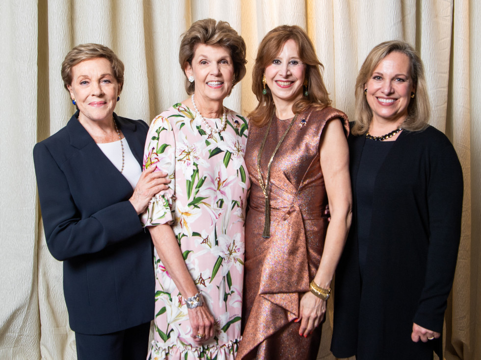 Barbara Bush Power of Literacy Luncheon Julie Andrews 2019 Julie Andrews, Lilly Andress, Vicki West, and Emma Walton Hamilton