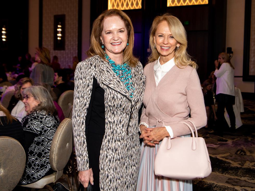 Barbara Bush Power of Literacy Luncheon Julie Andrews 2019 Sandy Barrett and Susan Sarofim