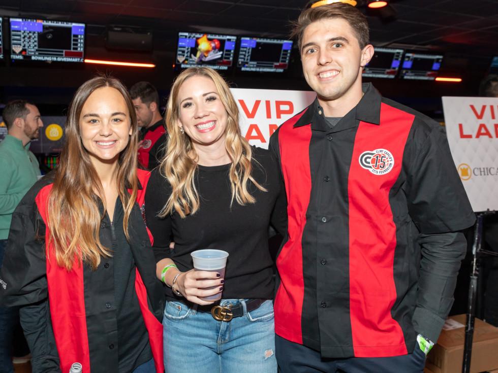 Clint Capela bowling bash 2019 Evan Peraza, Lauren Plotkin, Derrick Burnett