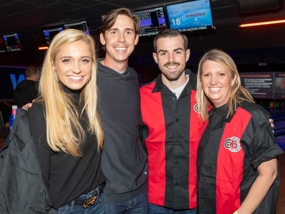 Clint Capela bowling bash 2019 Morgan Meadows, Briggs Webster, Austin Ergenbright, Mandy Deas