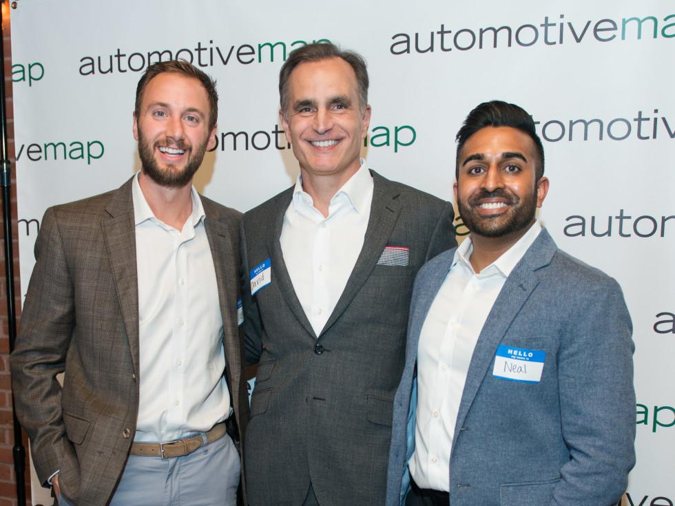 Automotive Map launch party 2019 Justin Makris, David Gow, Neal Patel