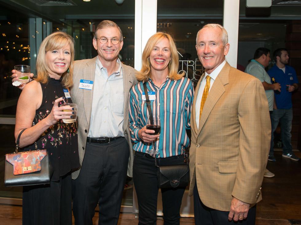 Automotive Map launch party 2019 Linda and Scott Burdine, Julie Griffith, and Dr. John Craddock