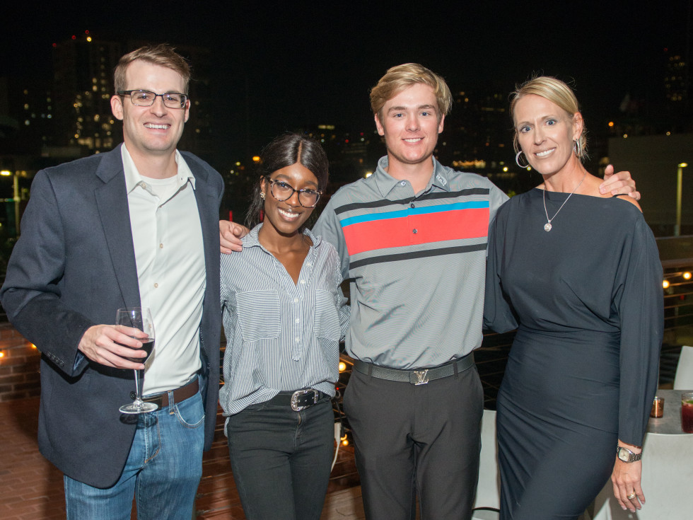 Automotive Map launch party 2019 Alex Gold, Daisha Mitchell, Steven Campbell, and Elissa Walker Campbell