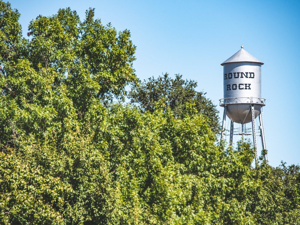 Round Rock watertower