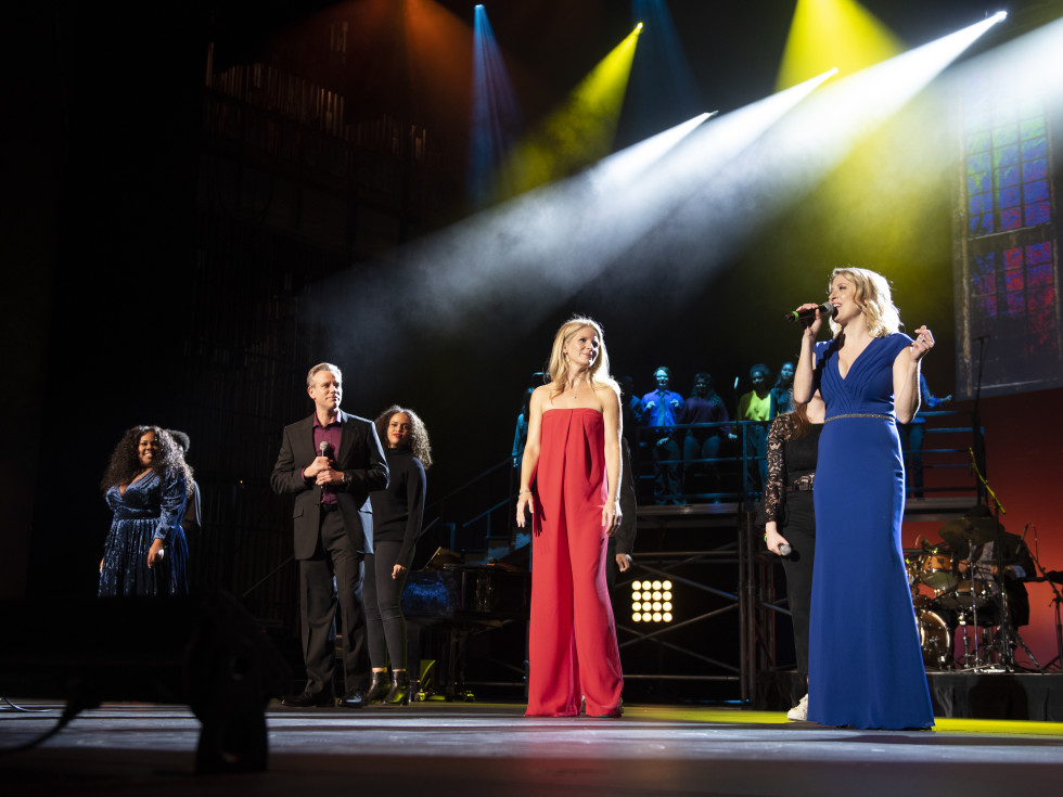 Amber Riley, Adam Pascal, Kelli O'Hara, Caissie Levy