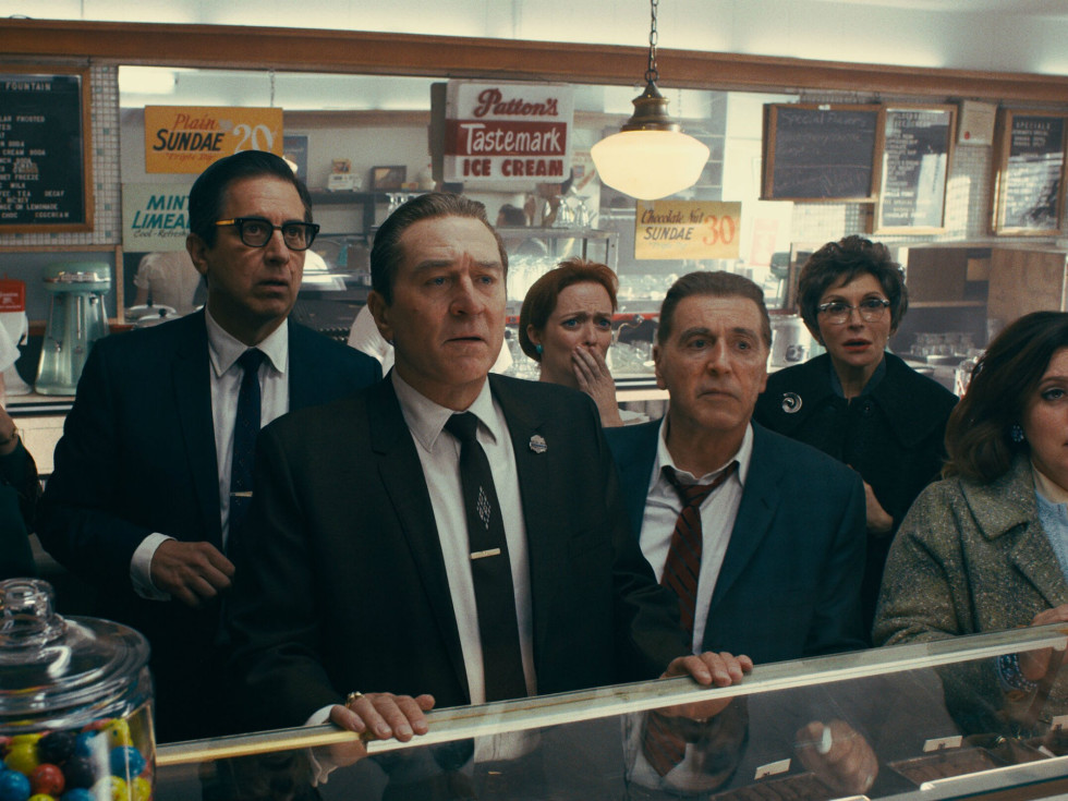 Ray Romano, Robert De Niro, and Al Pacino in The Irishman
