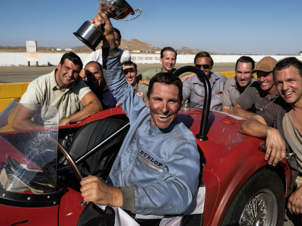 Christian Bale in Ford v Ferrari