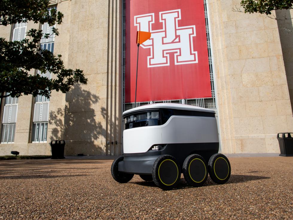 university of houston autonomous delivery robot