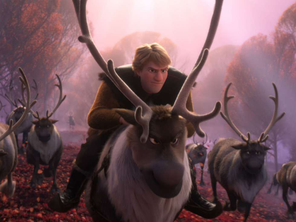 Kristoff (Jonathan Groff) and Sven in Frozen II