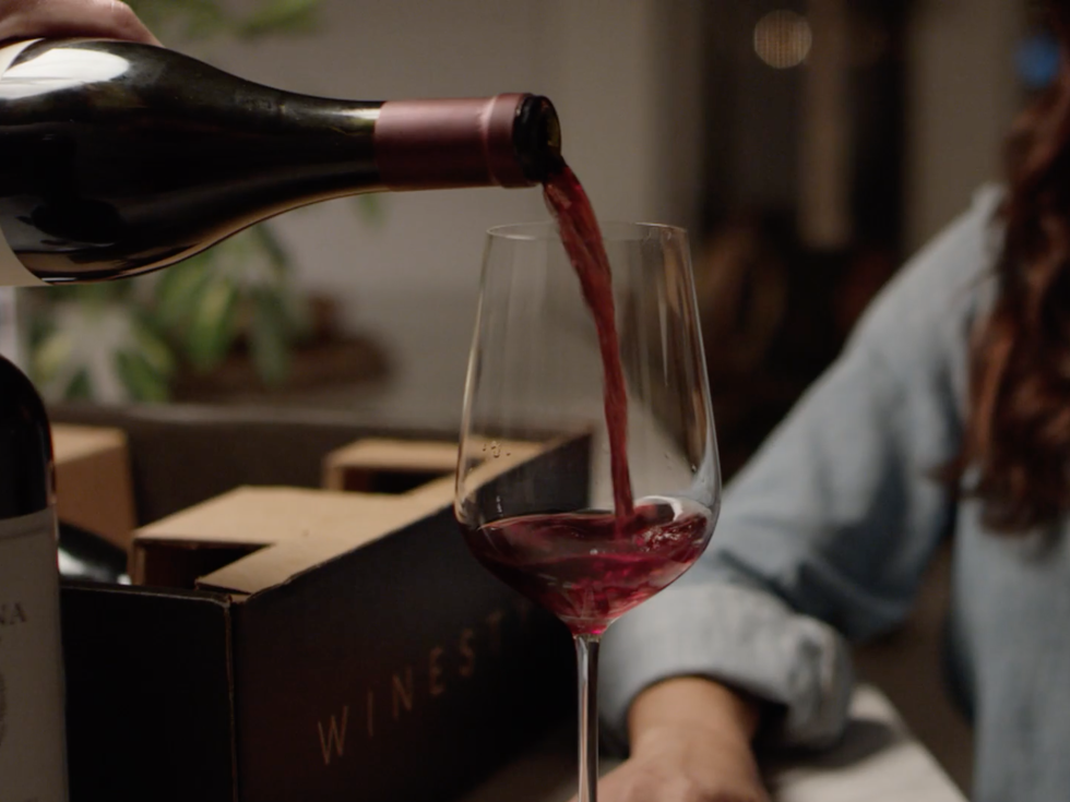 Red wine from Calluna Vineyard