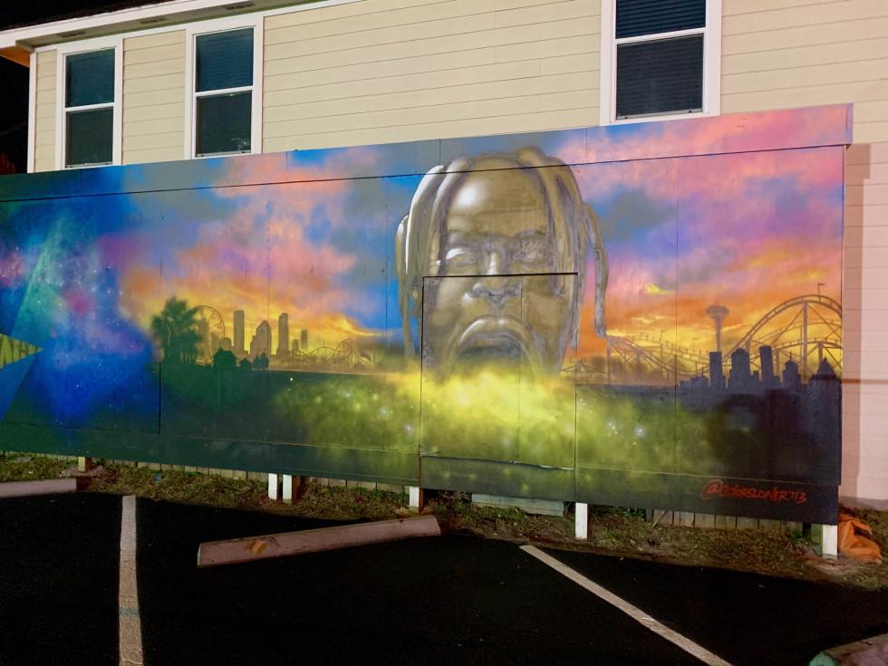 Lost and Found Midtown Travis Scott mural