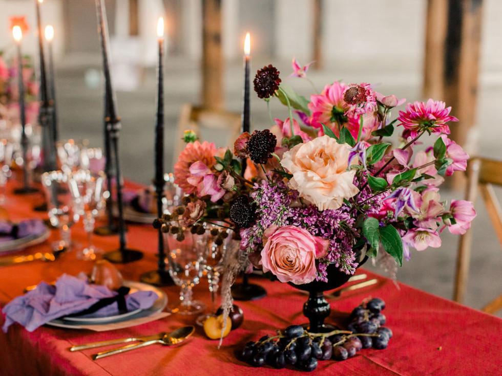 dark palettes_ real Weddings