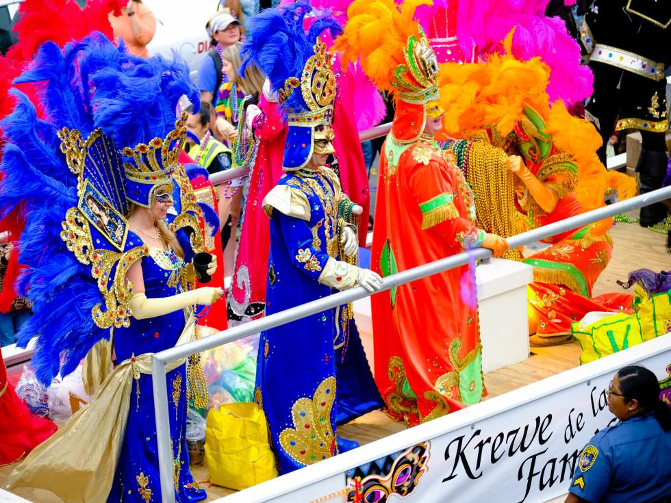 Krewe of Krewe parade in Lake Charles