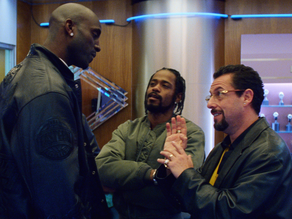 Kevin Garnett, Lakeith Stanfield, and Adam Sandler in Uncut Gems