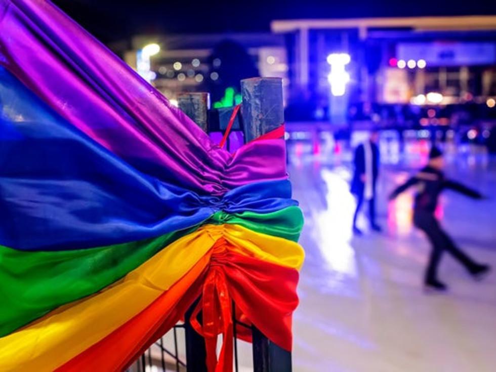 Rainbow in Ice