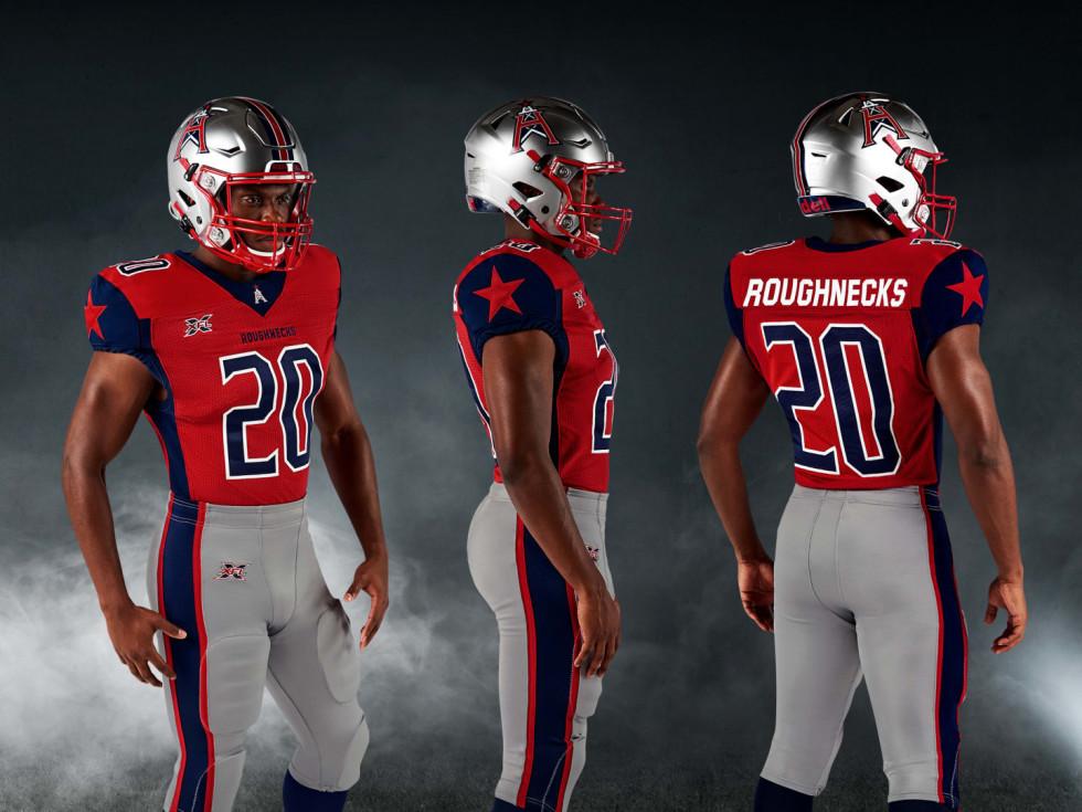 Houston Roughnecks uniforms XFL Ken Hoffman