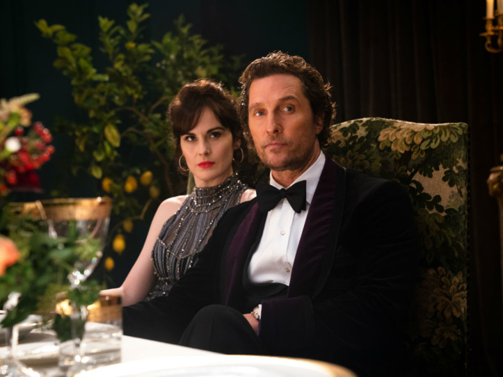 Michelle Dockery and Matthew McConaughey in The Gentlemen