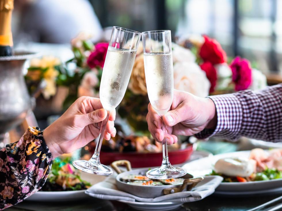 Emmaline Valentine's Day champagne