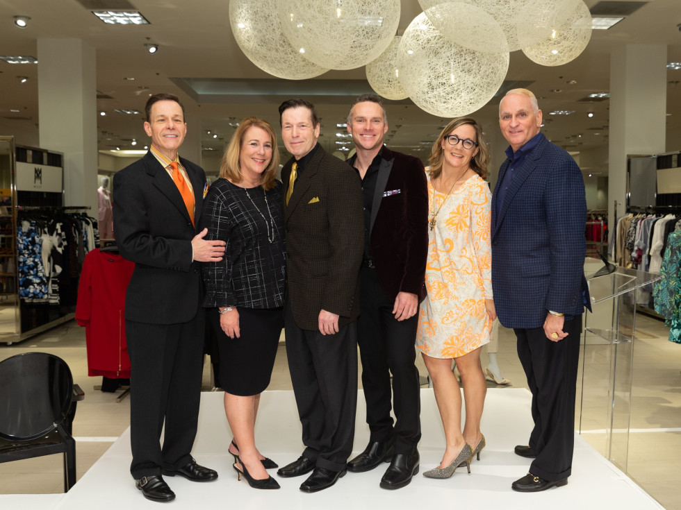 Social Book Neiman Marcus Page Parkes anniversary 2020 Jeff Henry, Stacey Swift, Scott Evans, Miami Johnson, Kat Creech (event producer) and Glenn Guiler