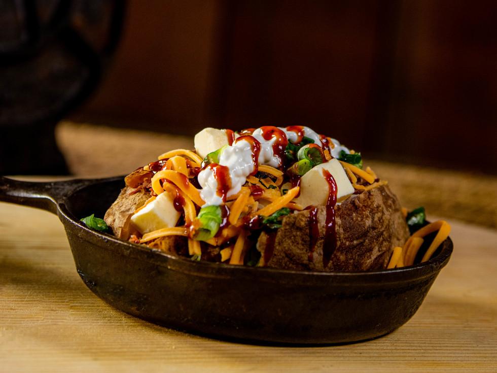 Houston Astros Minute Maid Park stadium food menu Stuffed Baked Potato