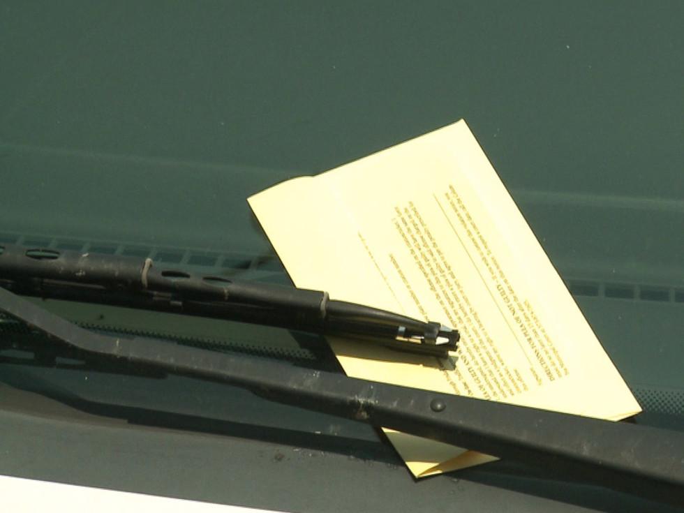 parking ticket, car, windshield wiper