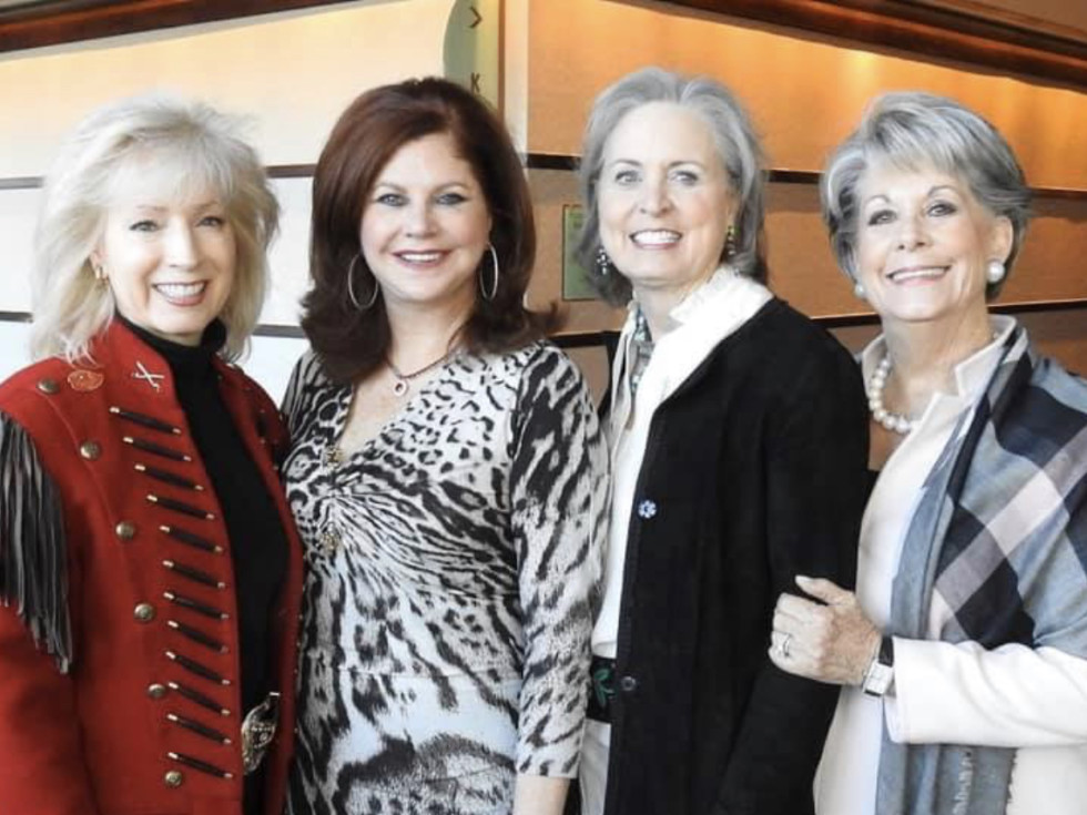 Rodeo Trailblazer Awards Luncheon 2020 Pat Mann Phillips (HLSR Executive Committee), Laura Kent, Sharleen Walkoviak (HLSR Lifetime Vice President) and Paula Robinson