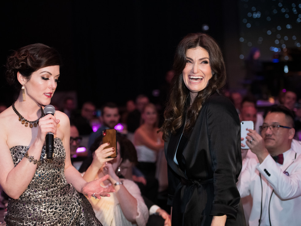 Tori Correll singing with Idina Menzel.