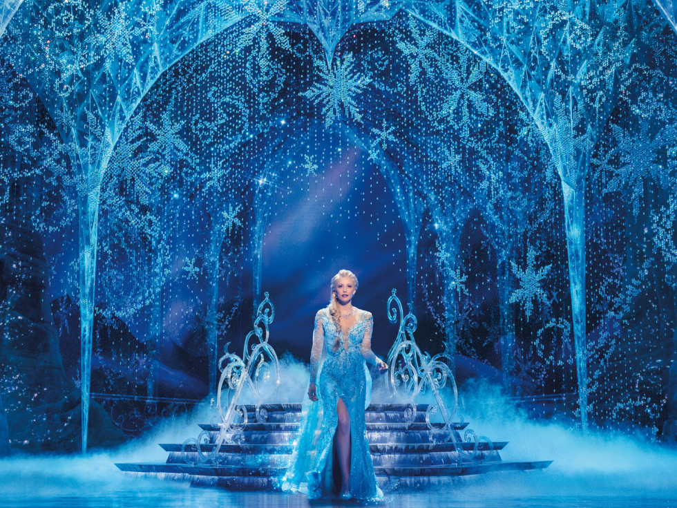 Caroline Bowman in the national tour of Frozen
