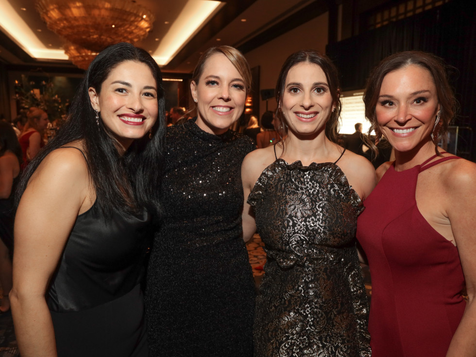 West U Park Lover's Ball 2020 Monica Heyne, Caitlin Pickard, Tatianna Yale, and Kimberly Eads