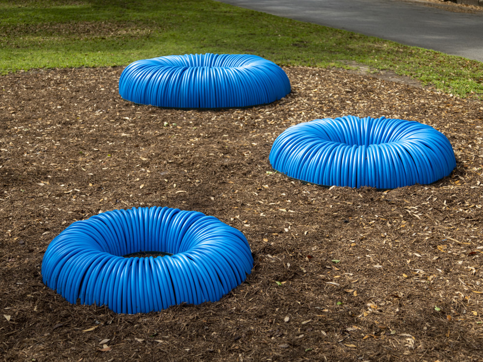 True North Heights sculptures Forces of Nature/ Blue Skies, Slinkys, and Hurricanes - Leticia Bajuyo