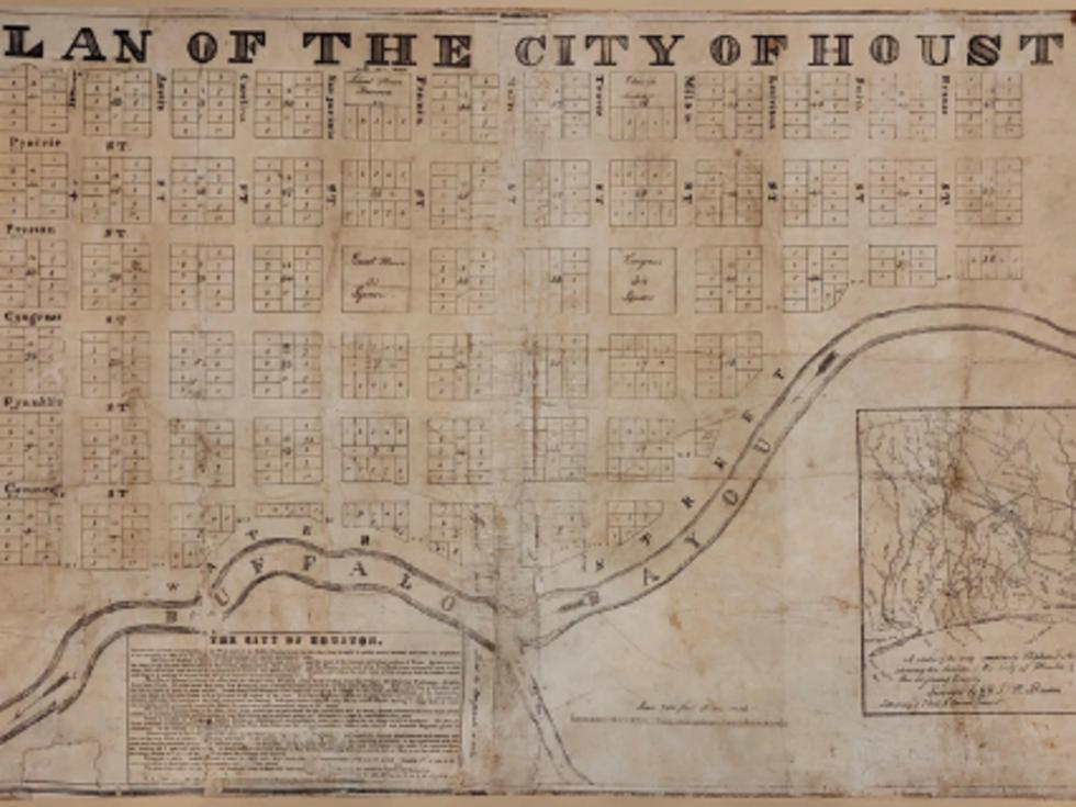 Original plan of the city of houston antiquairum