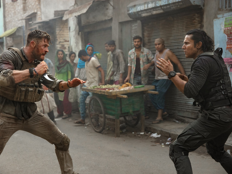 Chris Hemsworth and Randeep Hooda in Extraction
