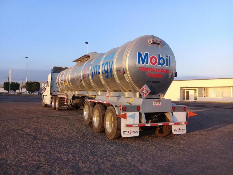 Exxon Mobil truck